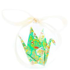 Origami Crane Hope in a box in mint green