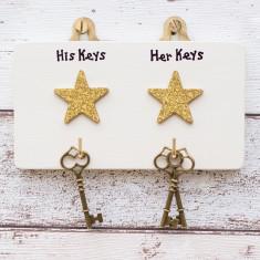 Personalised Celebrity Star Key Hook Plaque
