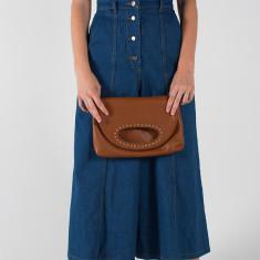 Maddie Leather Clutch