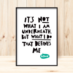 Batman quote children's art print