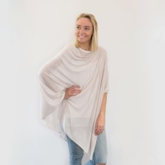 Bamboo poncho in sand