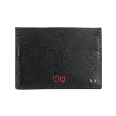 Cardholder With Initials & Motif