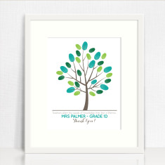 Personalised teacher finger painted tree print (downloadable file)