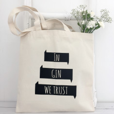 In gin we trust reusable shopping tote