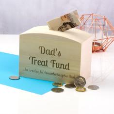 Personalised Dad's Treat Fund Money Box