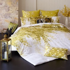 Josephine gold quilt cover set