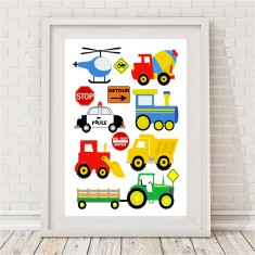 Transport kids' print