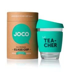 Mint best tea-cher reusable glass cup (various sizes)