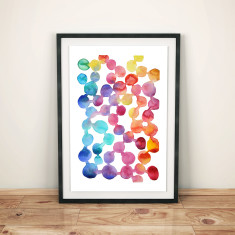 Joyful watercolour art print
