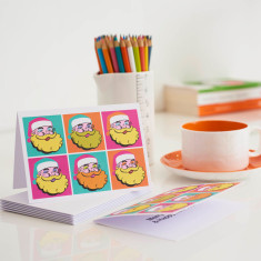 Warhol Father Christmas Card - Pack of 5