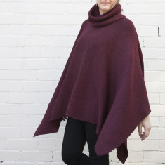 Roll Neck Oversized Poncho