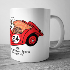 MG Midget sports racing car mug