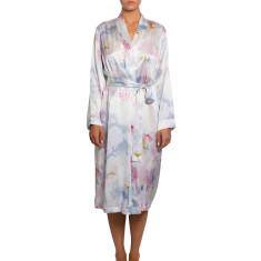 Pure Silk Robe - Artisan Print