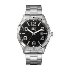 CAT CAMDEN series mid size watch in steel & black