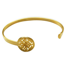 Tangier open cuff in 18 kt yellow gold plate