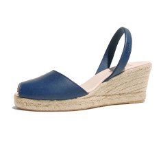 Foro leather sandals in navy