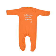 Halloween With The... Personalised Baby Romper Sleepsuit