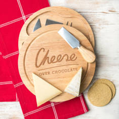 Cheese Over Chocolate Cheese Board With Knife Set