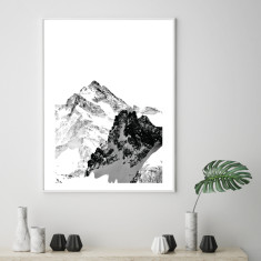Minimalist mountains art print (various sizes)