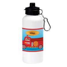 Personalised fire engine drink bottle