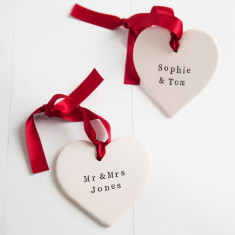 Personalised Valentine's Day Ceramic Heart