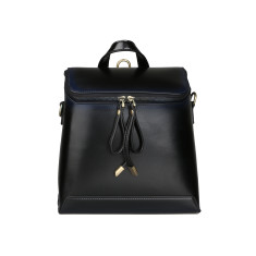 Black Mini Leather Backpack Shoulder Bag