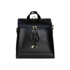 Black Mini Leather Backpack Shoulder Bag