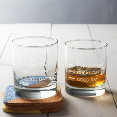 Father's Day Measures Glass