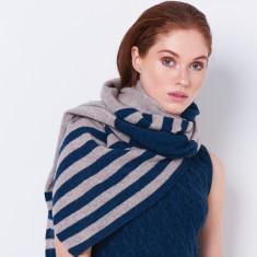 Oversized cashmere merino scarf