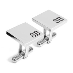 Personalised laser engraved Initial cufflinks