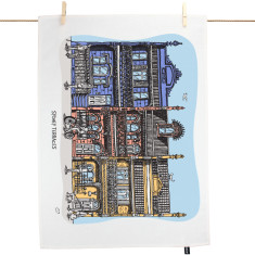 Inner City Terraces tea towel