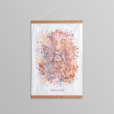 Adelaide Abstract Map Wall Hanging