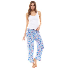 Petals Crop Pant & Tank Set Blue & White