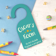 Children's Personalised Playtime Door Hanger
