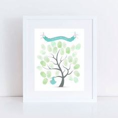 Baptism guest book tree