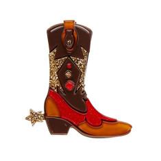 Erstwilder boot scootin' brooch