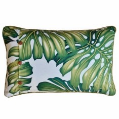Monstera palm decorator cushion