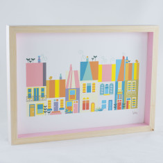 Baby went to... city themed framed print
