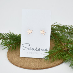 Seasons Tweetings Bird Studs Rose
