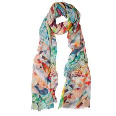 Diamond gelati pastel geometric scarf