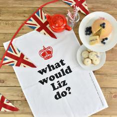 What Would Liz Do? Queen Elizabeth II'S 90th Birthday Tea Towel