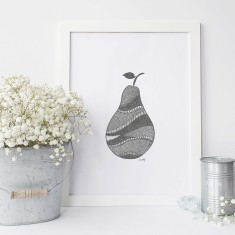 Pear drawing print