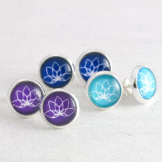 Lotus Yoga Stud Earrings