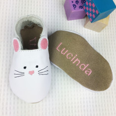 Personalised Embroidered Mouse baby shoes