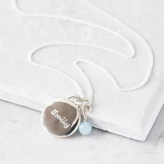 Child's Birthstone Charm Necklace