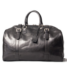 The Flero Large Leather Overnight Holdall Bag