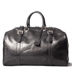 The Flero Large Leather Overnight Holdall Bag