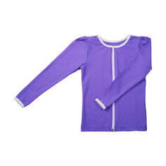 Long sleeve rashie for girls in Mauve