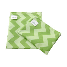 Mint Green Chevron food grade reusable snack bag set