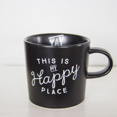 Happy place ceramic mug